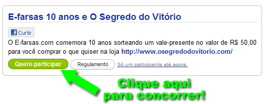 promocao no Facebook!