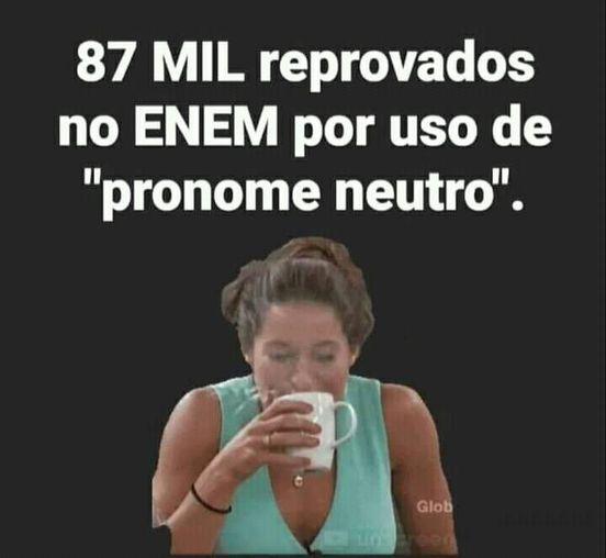 É verdade que 87 mil candidatos foram reprovados no Enem por usarem pronome neutro?