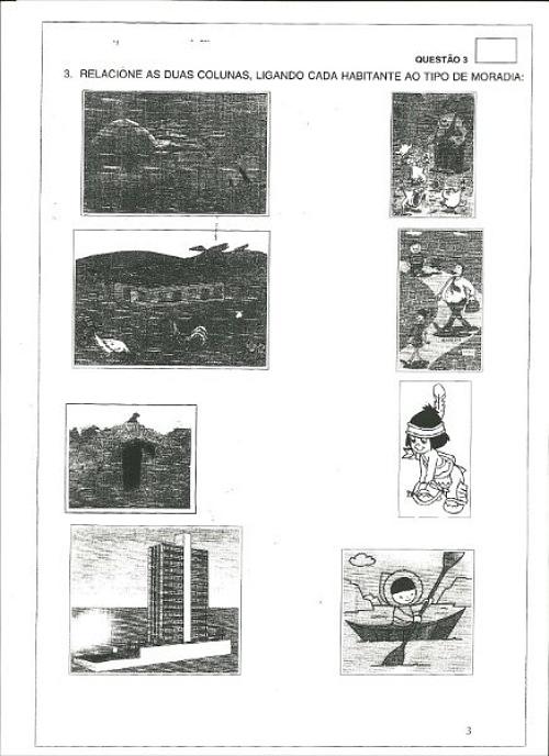 Escola utilizou a ilustração em uma prova realizada em 2010! (foto: Reprodução)
