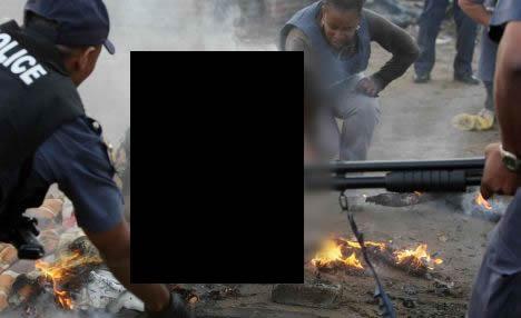 Foto mostra cristão queimado vivo na Nigéria!