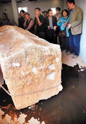 Vazamento mostra que houve infiltração e possível contaminação da tumba! (foto: Divulgação/Xinhua)