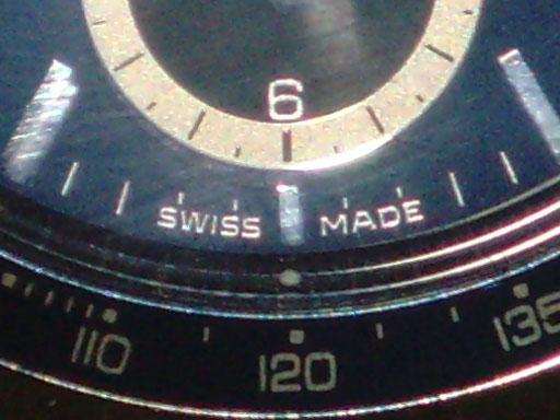 """Inscrição """"Feito na Suíça"""" é um comprovante de autenticidade do relógio! (foto: reprodução/Wikipédia)"""