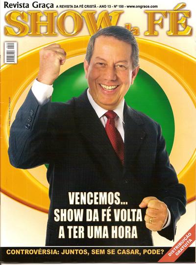 Capa da revista Show da Fé falando sobre as farsas da web!