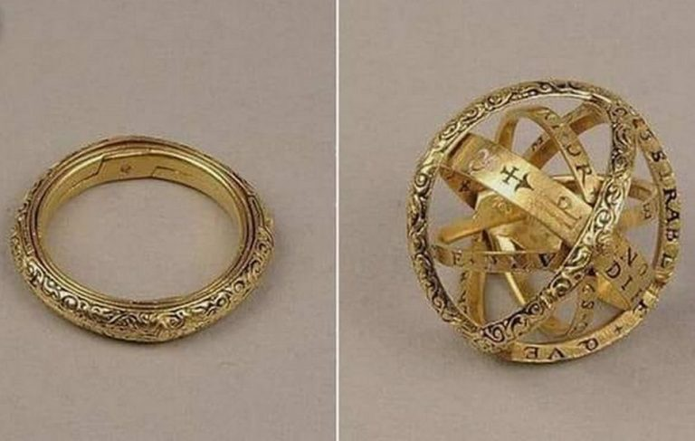 Foto mostra um anel do século XVI que se desdobra numa esfera astronômica?