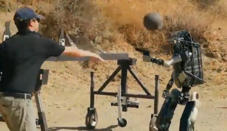 Vídeo mostrando um soldado-robô em ação é verdadeiro ou falso?