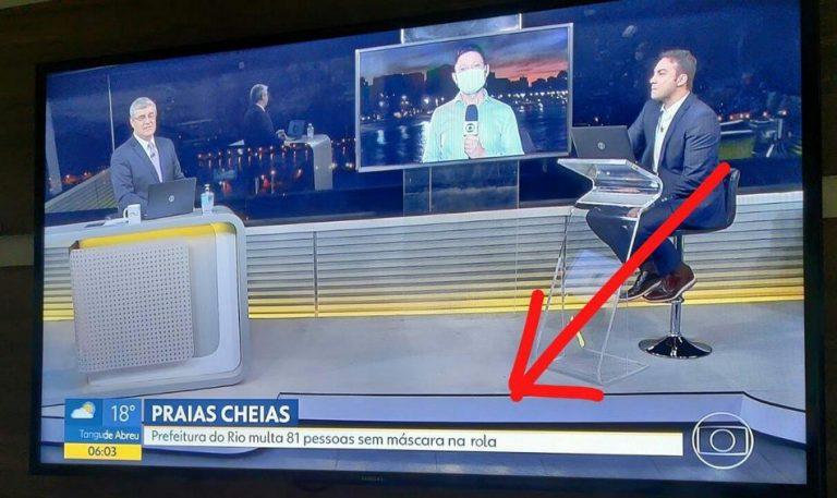 Erro em GC durante um telejornal da Globo gerou uma frase constrangedora?