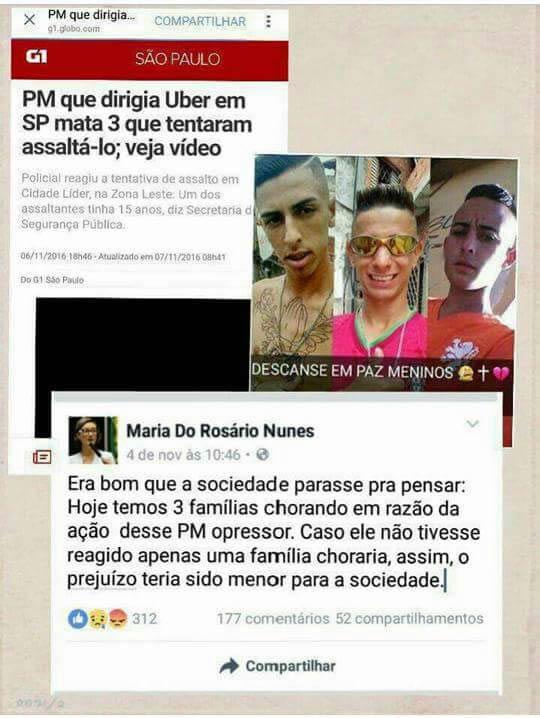 A Deputada Maria Do Rosário Criticou O Pm Que Matou 3 Bandidos
