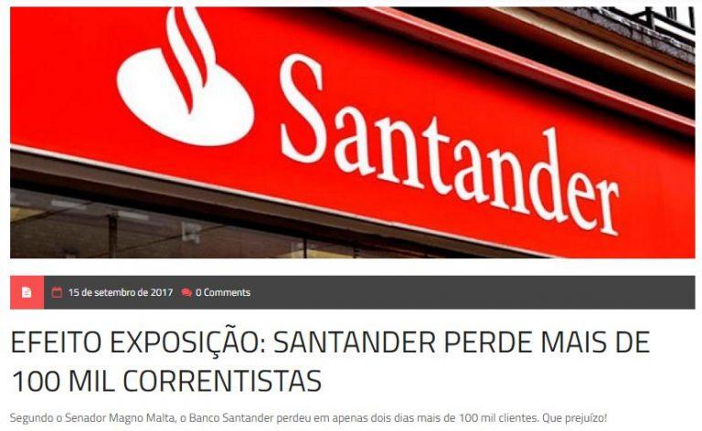 O Santander perdeu mais de 100 mil clientes após exposição Queermuseu?