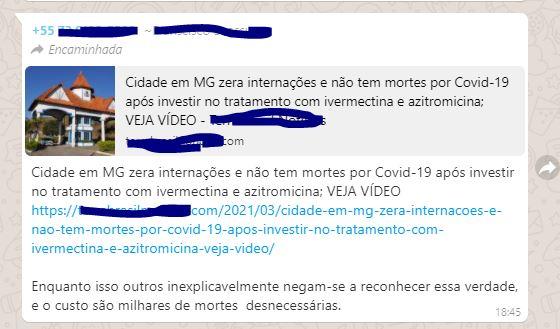 A cidade de São Lourenço zerou as internações por COVID graças ao tratamento precoce?