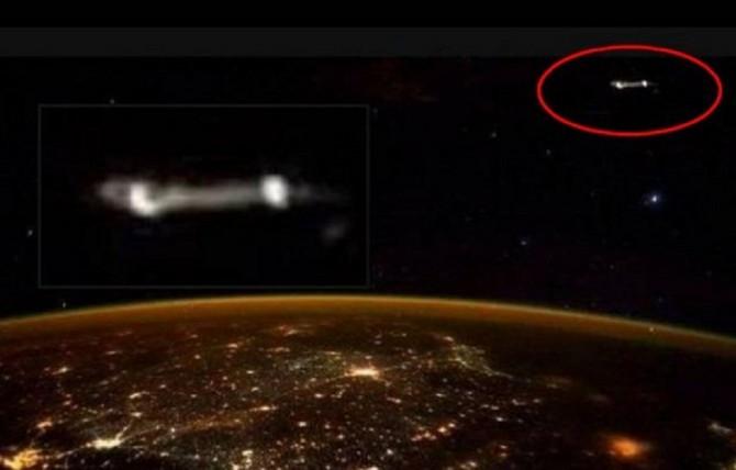 Astronauta teria fotografado um ovni no espaço! Será verdade? (foto: Reprodução/Twiter)