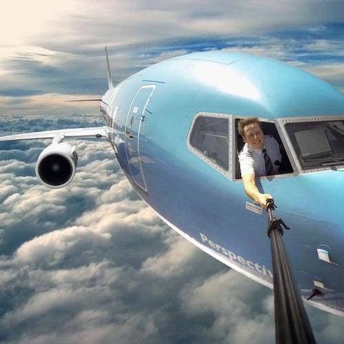 Em seguida, colar o avião na frente das nuvens!