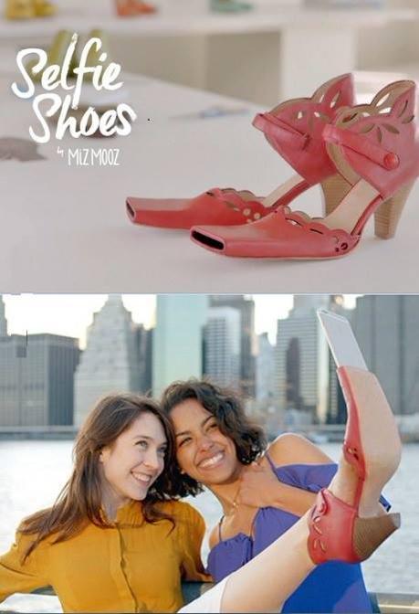 Sapatos especiais para quem gosta de um selfie! Brincadeira, né?