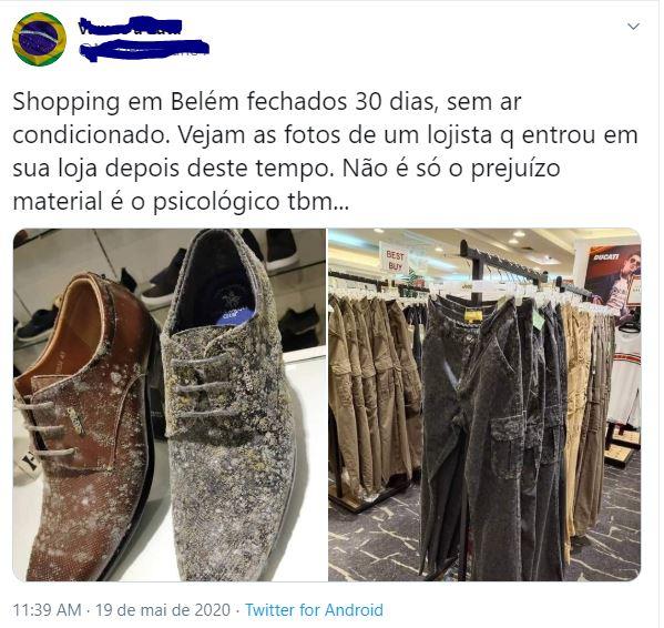 Shopping reabre em Belém após 30 dias com os produtos embolorados! Será verdade?