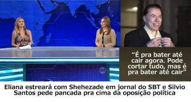 Eliana fez ensaios com Sheherazade na bancada do Jornal do SBT a pedido de Silvio! Será verdade? (foto: Reprodução/Faceboo