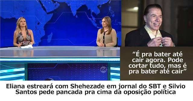Eliana fez ensaios com Sheherazade na bancada do Jornal do SBT a pedido de Silvio! Será verdade? (foto: Reprodução/Facebook)