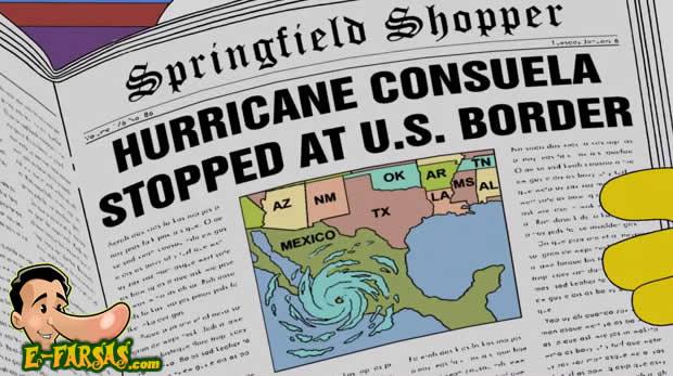 Os redatores de Os Simpsons teriam previsto o furacão Patricia? (foto: Reprodução/Facebook)