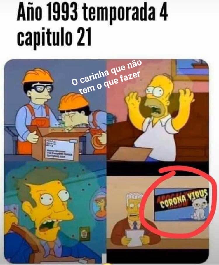 Os Simpsons previram em 1993 a epidemia do coronavírus?