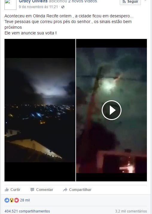 Sinais apocalípticos aparecem nos céus de Olinda!
