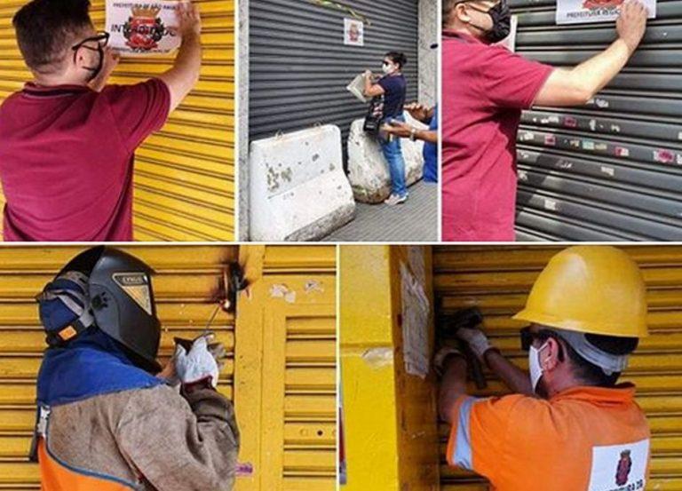 Portas de estabelecimentos comerciais estão sendo soldadas em São Paulo?