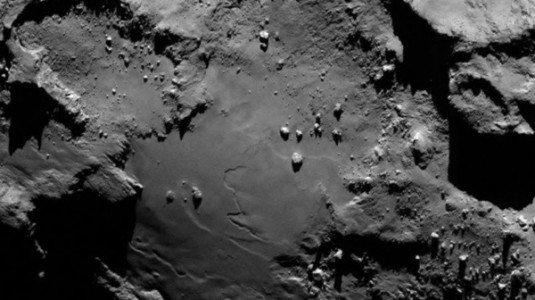 Foto original da superfície do cometa 67P! (foto: Divulgação/NASA)