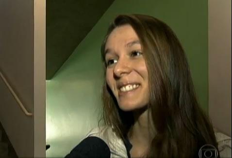 Entrevistada real da matéria! (foto: Reprodução/YouTube)