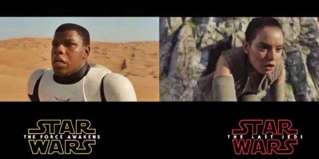 Os trailers dos últimos Star Wars são iguais?