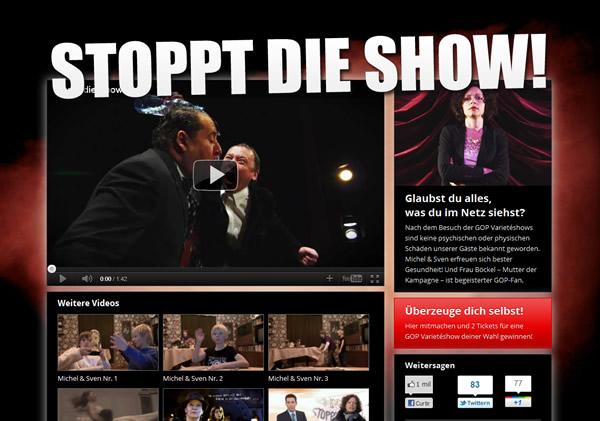 Reprodução do site Stoppt Die Show!