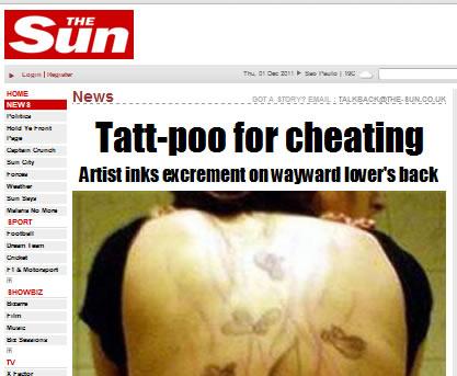 O Jornal The Sun foi um dos primeiros a publicar a noticia falsa!