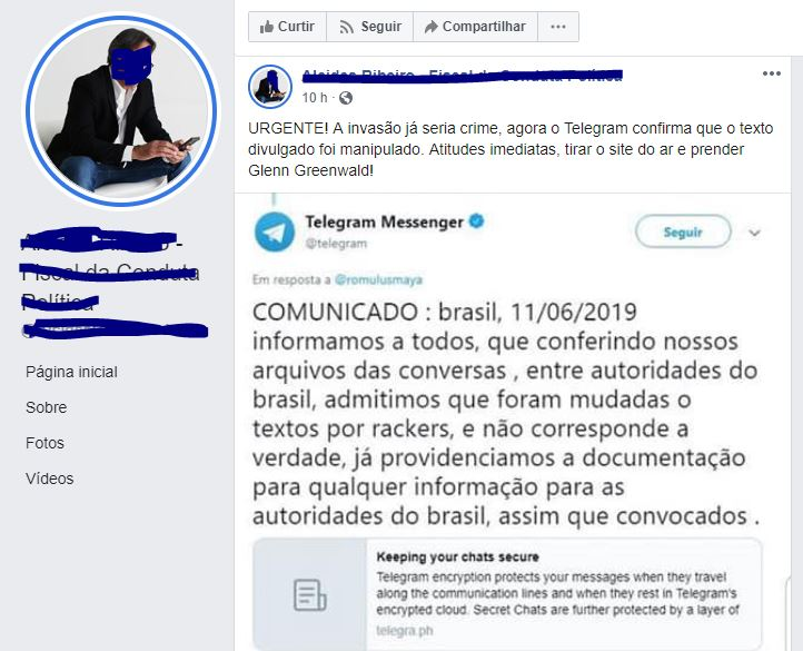 O Telegram admitiu que as conversas vazadas da Lava Jato