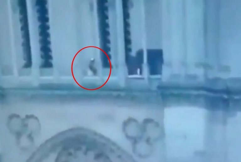 Um terrorista muçulmano foi flagrado na Catedral de Notre-Dame?