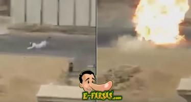 Terrorista cai e explode antes da hora! Será verdade? (foto: Reprodução/WhatsApp)