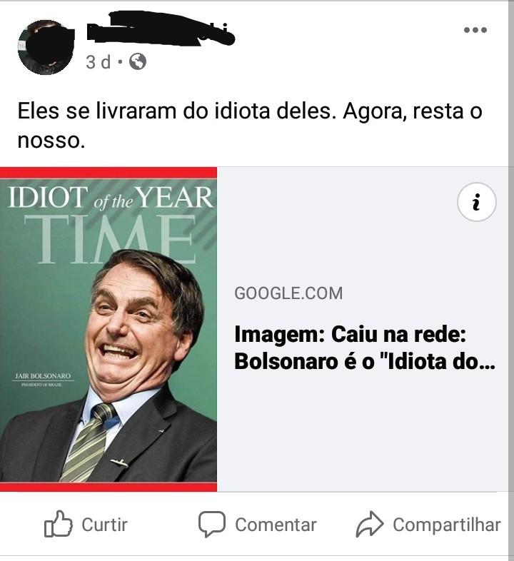 Jair Bolsonaro foi eleito o Idiota do Ano pela revista Time?
