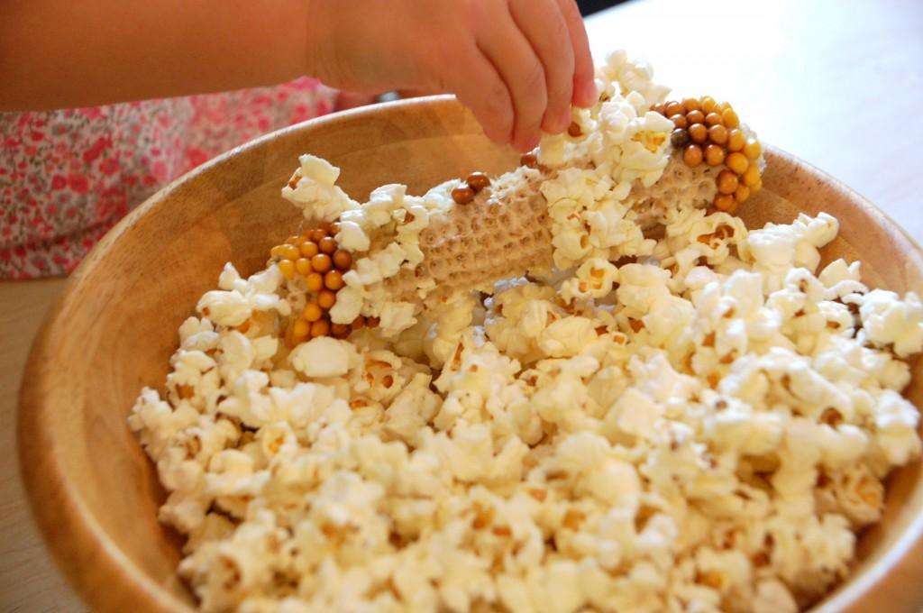 Espiga de milho de pipoca depois de estourada! (foto: Reprodução/TikerLab)