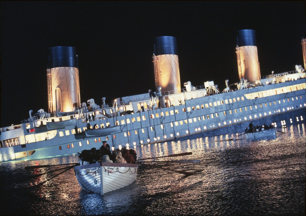 Cena do filme Titanic de 1997