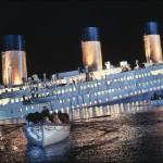 Cena do filme Titanic de 1997