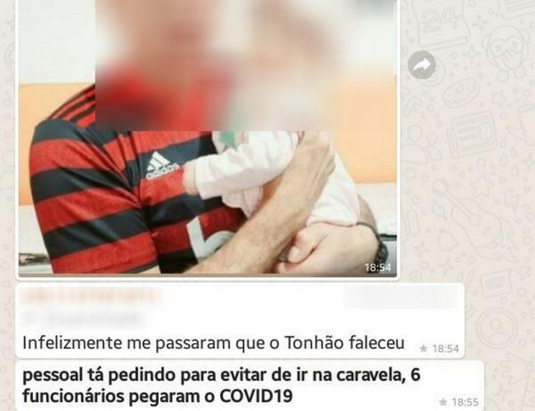 Funcionário de uma padaria em Cruzeiro/SP morreu por COVID-19 e contaminou outros colegas?