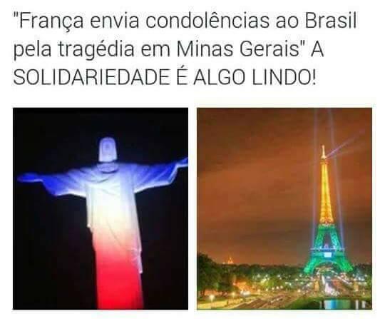 Países se homenageiam mutualmente! Será verdade? (foto: Reprodução/Facebook)