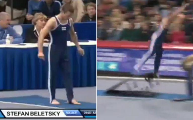Estranho acidente durante campeonato de ginástica artística! Será verdade?
