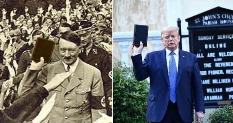 Foto de Hitler segurando uma Bíblia é verdadeira ou falsa?