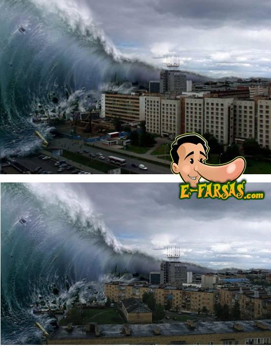 Montagens famosas que usam a mesma onda! (fotos: Reprodução/Google Images)