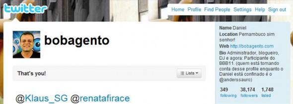 Twitter do Bobagento!