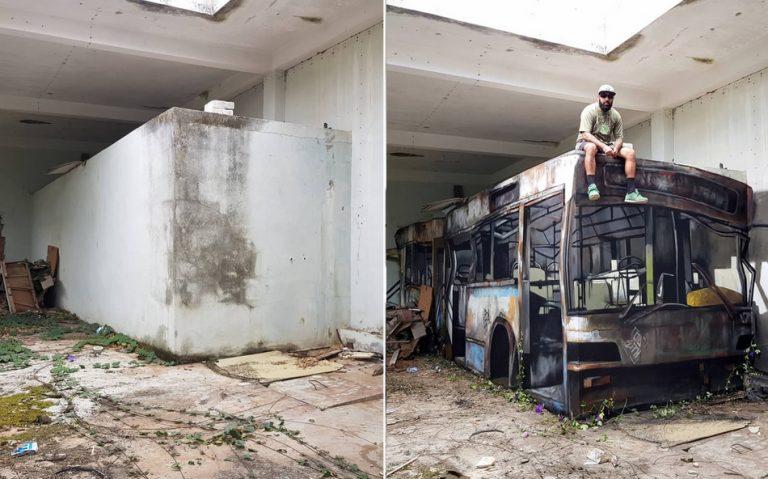 """Arte ou realidade? A verdade sobre o """"ônibus sucateado"""" que viralizou na internet!"""