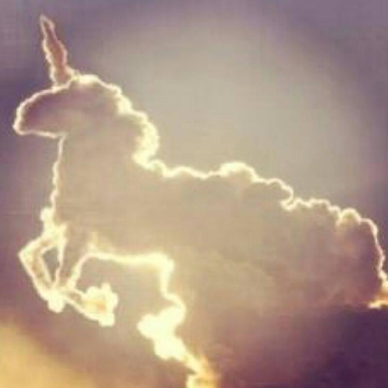 Nuvem em forma de unicórnio! Verdade ou farsa? (foto: Reprodução/Facebook)