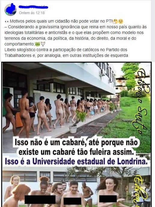 Alunos da Universidade de Londrina tem aulas totalmente nus?