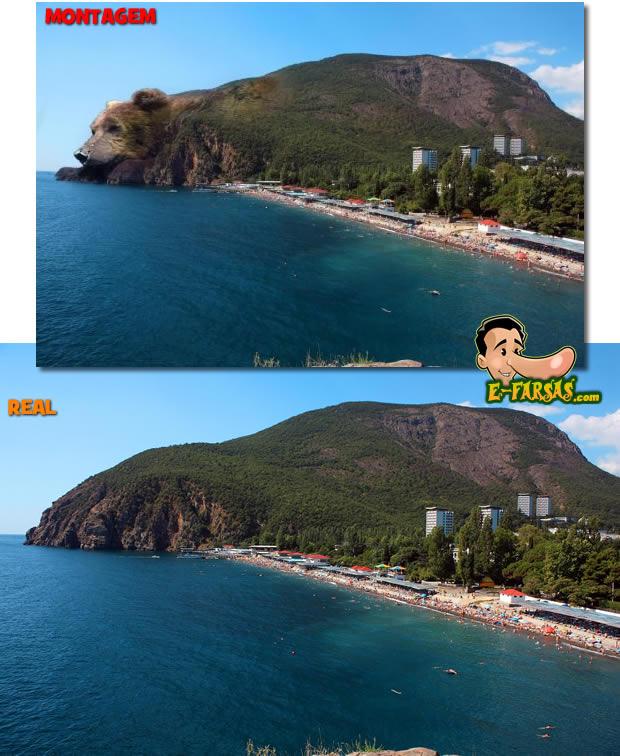 Compare a foto original (abaixo) com a montagem! (foto: Reprodução)