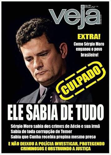 Capa da revista Veja diz que Sérgio Moro sabia de tudo?