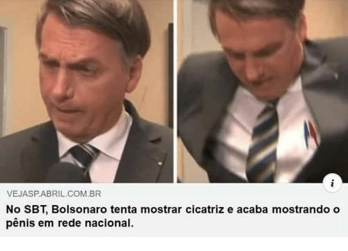 Bolsonaro tentou mostrar cicatriz no SBT e acabou mostrando o pênis em rede nacional?