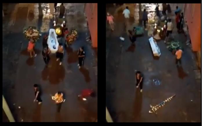 Vídeo mostra um velório que termina em tiroteio! Será verdade?