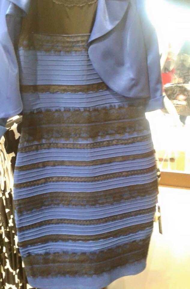 Esse vestido é azul com listas pretas ou é branco com listas douradas? (foto: Reprodução/Tumblr)