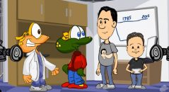 Gilmar Lopes e Efarsinho participam de desenho animado sobre viagem no tempo!